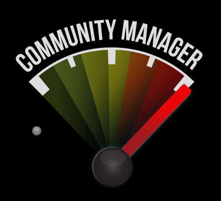 Community Manager speedometer sign concept illustration design graphic. Illustration