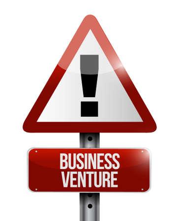 Entreprise venture route avertissement signe concept illustration conception isolé sur blanc Banque d'images - 76488857