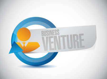 Business venture avatar cycle sign concept illustration design Stock fotó - 76488927