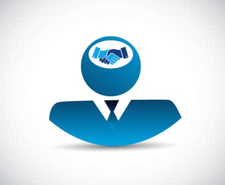 Business agreement handshake concept illustration design isolated over white
