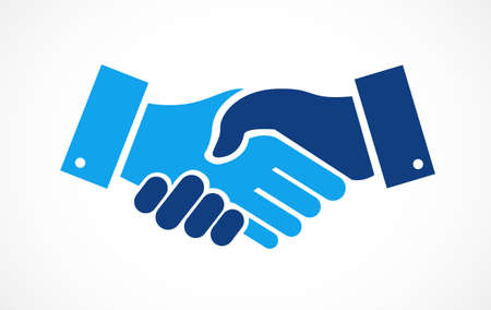 Agreement handshake concept illustration design isolated over white