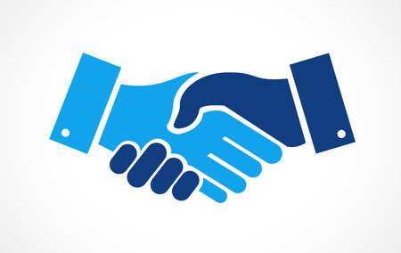 Agreement handshake concept illustration design isolated over white