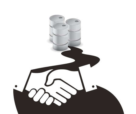 Oil business agreement concept illustration design isolated over white