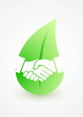 business meeting: Nature handshake concept illustration design isolated over white