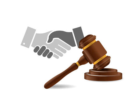 Legal agreement handshake concept illustration design isolated over white