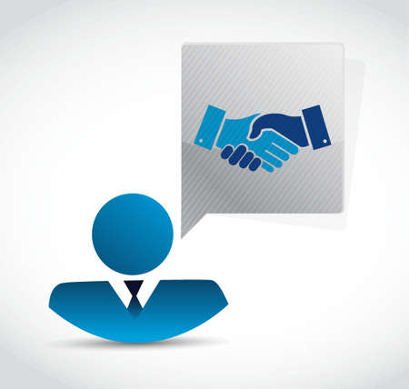 Business agreement handshake concept illustration design isolated over white