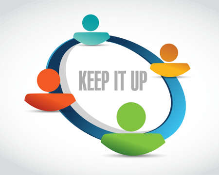 Keep it up network sign concept illustration design graphic over white