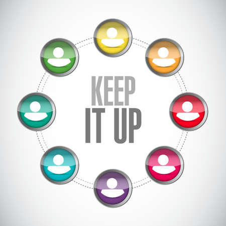 Keep it up people network sign concept illustration design graphic over white Illustration