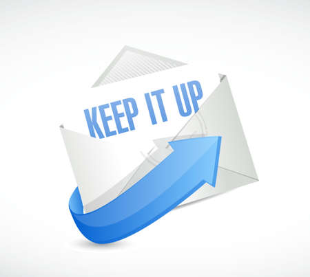 Keep it up mail sign concept illustration design graphic over white