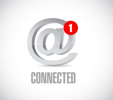 online connected communication concept message. illustration isolated over white
