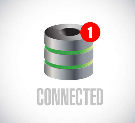 server connected communication concept message. illustration isolated over white