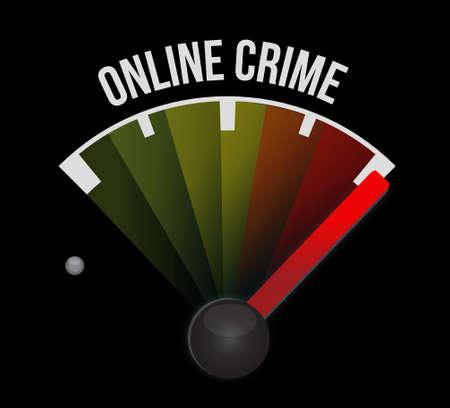 online crime speedometer sign concept illustration design