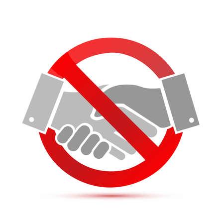 negative. no handshake concept illustration design graphic