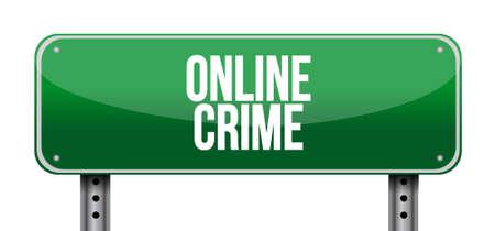 online crime road sign concept illustration design 일러스트