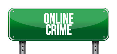 online crime road sign concept illustration design Illusztráció