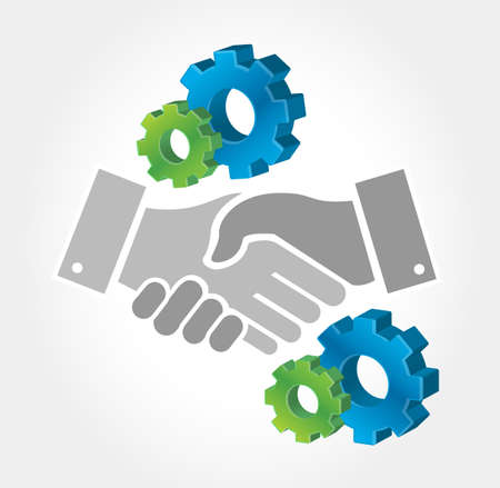 industry design: business industry handshake concept illustration design graphic Illustration