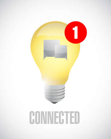idea connected communication concept message. illustration isolated over white