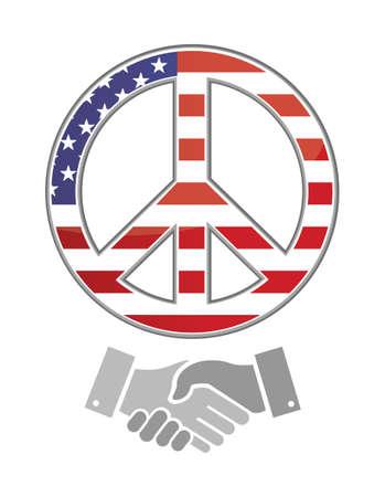 United states peace. america handshake concept illustration design graphic