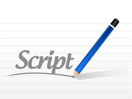 白で隔離スクリプト メッセージ記号概念イラスト デザイン