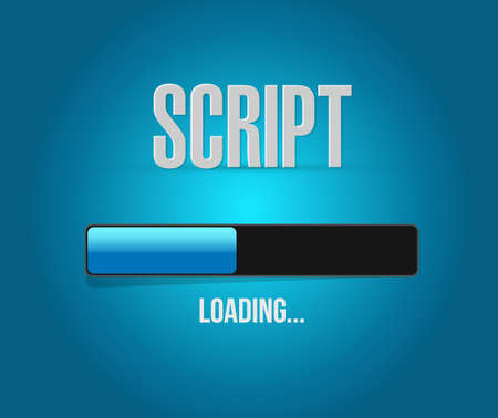 script loading bar sign concept illustration design isolated over white Illustration
