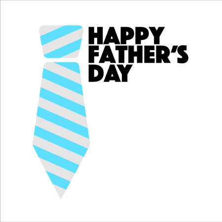 Happy Fathers Day tie sign illustration design graphic