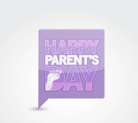 Pink Happy parents day message sign Illustration design graphic