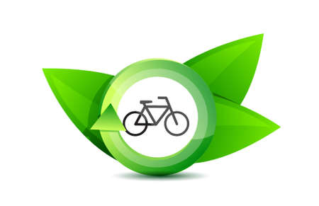 green transportation bike concept illustration over a white background