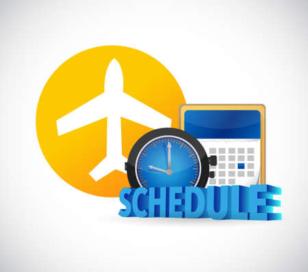 airport schedule time concept illustration isolated over white