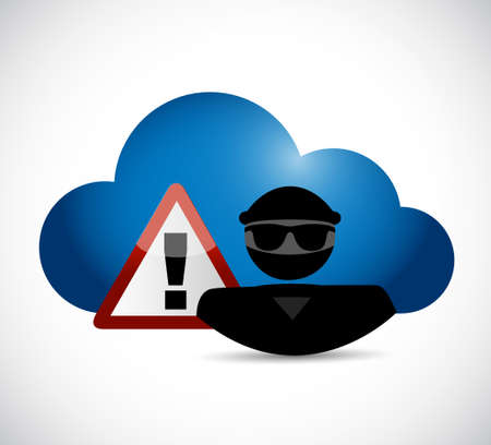 cloud computing hackers concept illustration design over a white background