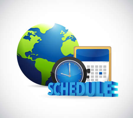 earth day: international schedule and calendar. illustration design over white