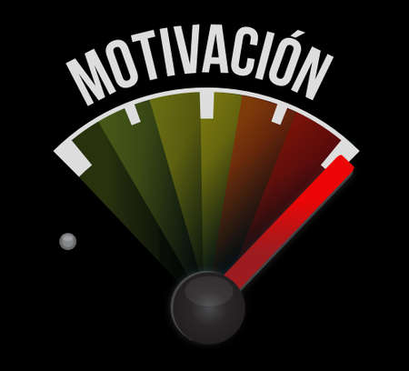 Motivation meter sign in Spanish concept illustration design graphic over white