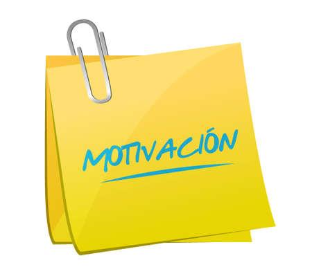Motivation memo post sign in Spanish concept illustration design graphic over white Stock fotó - 79757829