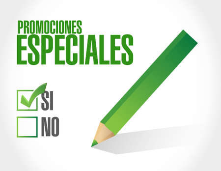 no special promotions in Spanish sign concept illustration design graphic