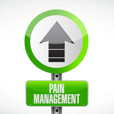 pain management street sign illustration isolated over a white background Illustration