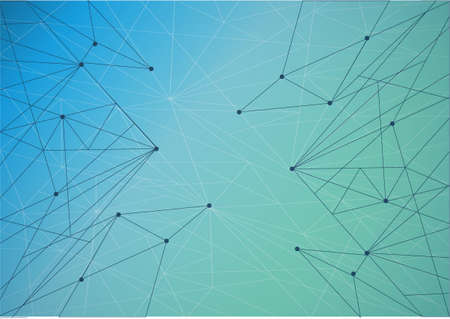 Technology network diagram link. green and blue illustration background