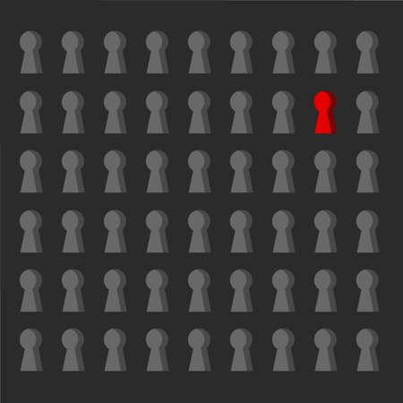security lock pattern concept illustration design graphic over a black background