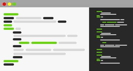 コンピューター プログラミング ブラウザー アイコン イラスト デザイン グラフィック
