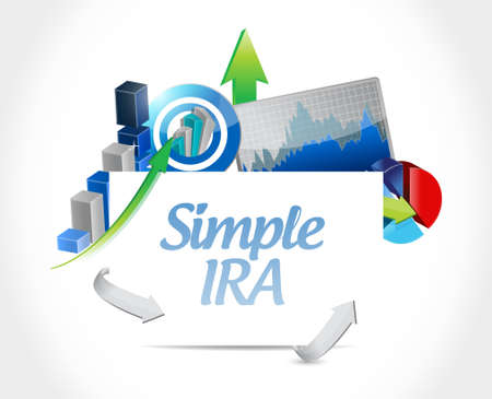 simple ira business charts illustration design icon isolated over white Illustration