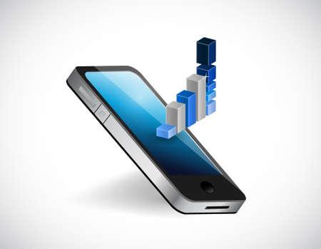 Affaires mobiles sur le go concept illustration isolé sur blanc Banque d'images - 81516198
