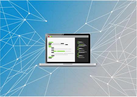 metadata: coding computer link network diagram illustration design graphic