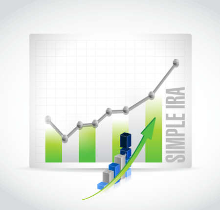 simple ira business graph illustration design icon isolated over white Illustration