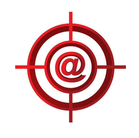 sniper: contact us target sign concept illustration design over a white background