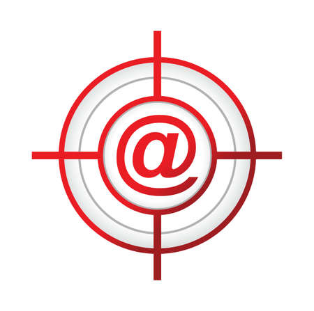 bull's eye: online aroba target sign concept illustration design over a white background