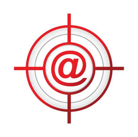 online aroba target sign concept illustration design over a white background