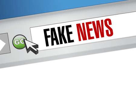 Fake news navigateur internet illustration design graphique Banque d'images - 81773233