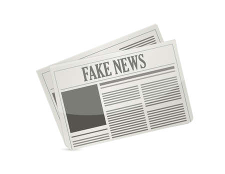 Nep nieuws krant illustratie ontwerp pictogram geïsoleerd over white