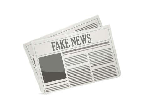 fake news newspaper illustration design icon isolated over white