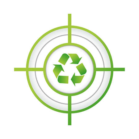 recycle target sign concept illustration design over a white background