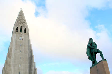 Hallgrimskirkja church in Reykjavik, Iceland. travel image