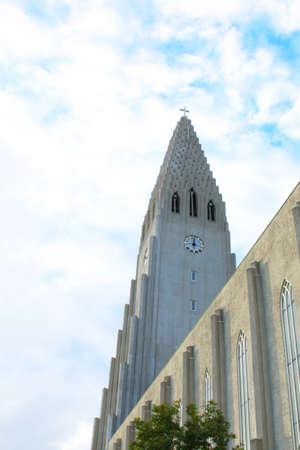 Hallgrimskirkja church in Reykjavik, Iceland. travel image